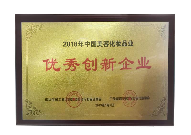 中国美容化妆品业优秀创新企业